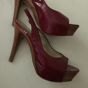 "Deep Red ""Chili"" Super High Heels"